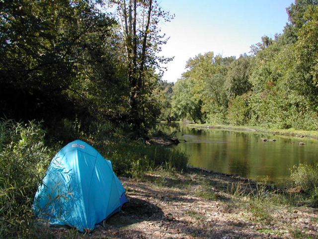 Camping on the St. Francis River