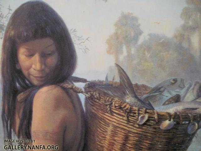 Indian Woman & Fish Basket